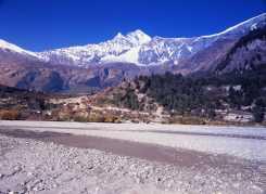 Mt Dhaulagiri 8172 m from river Kali Gandaki river