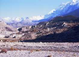 Mt Niligiri 7061m from Jomsom