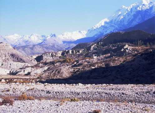 Mt Niligiri 7061m from Jomsom