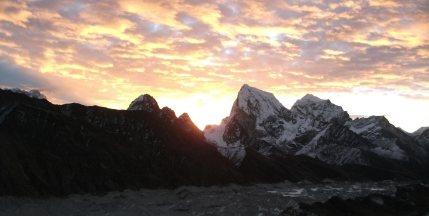Sunrise view from Kala Patthar, Everest Region