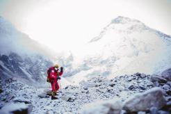 Nobukazu Kuriki with Everest