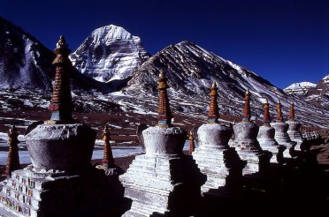 Chorten and mount kailash