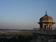 Taj Mahal seen from Agra fort