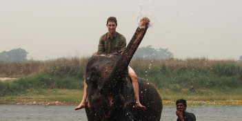 elephant bathing
