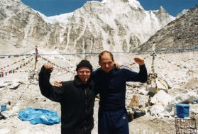 Goran posing at Everest Base Camp