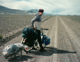 Goran cycling at Atacama Desert