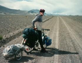 Goran cycling at Atacama Desert