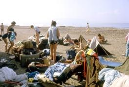 Hippies sunbathing at Syria-Lebanon border in 1966