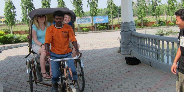 Rickshaw ride nepal