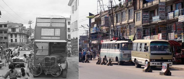 Buses in Kathmandu