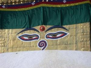 Swayambhunath shrine eyes