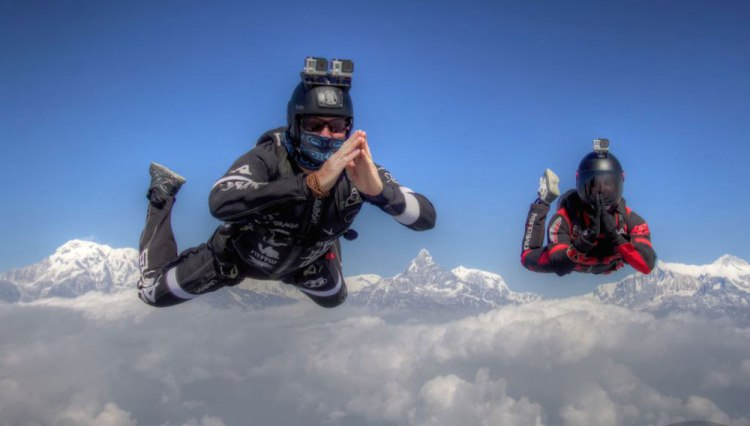 adventure sports nepal pokhara skydive