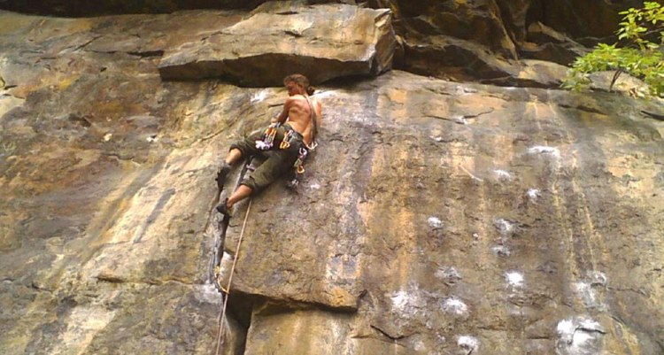 adventure in nepal rock climbing