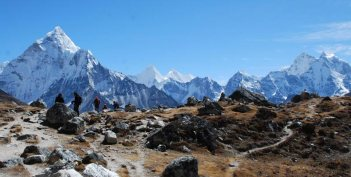 Chukpilhara Memorials Between Thukla and Lobuche, Everest Region