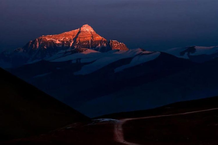 north everest face tibet