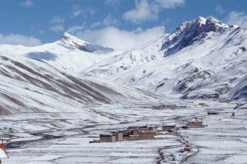 Snow covered Tarap